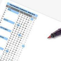 Calendario escolar 2009-2010 compacto