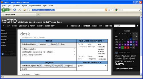 tbGTD, sistema GTD portable