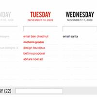 TeuxDeux, planificación simple de tareas